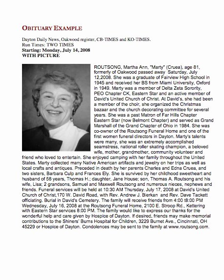 Sample Of Obituaries for Mother Beautiful 25 Obituary Templates and Samples Template Lab