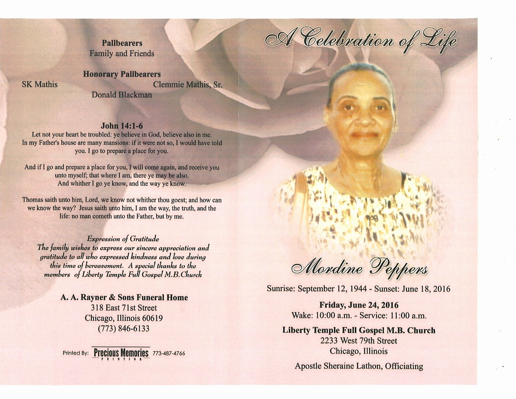 Sample Of Obituaries for Mother Elegant Mordine Peppers Obituary