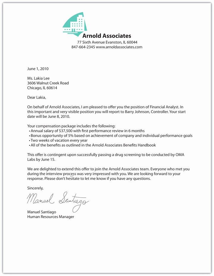 Sample Of Offer Letter Lovely Free Printable Fer Letter Sample form Generic