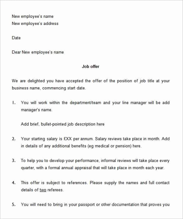 Sample Of Offer Letter Unique 75 Fer Letter Templates Pdf Doc