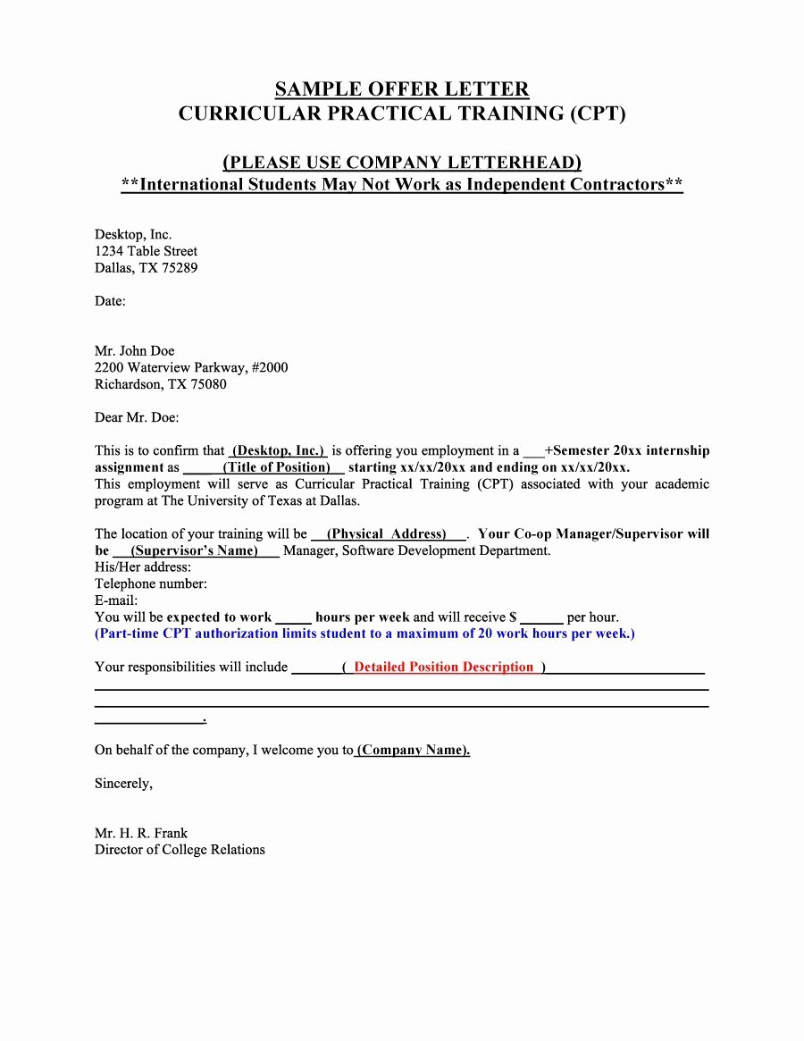 Sample Of Offer Letters Beautiful 44 Fantastic Fer Letter Templates [employment Counter