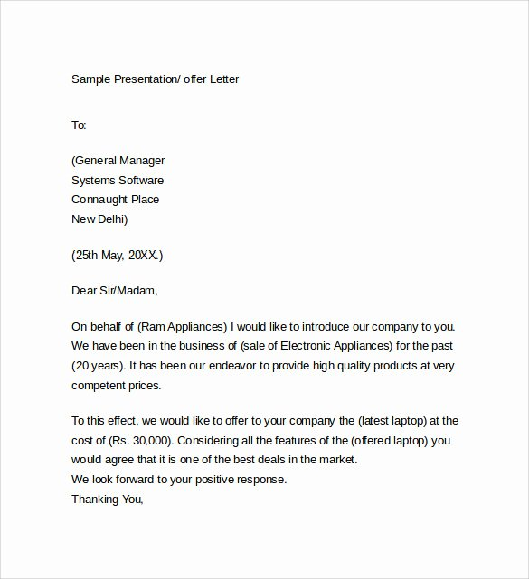 Sample Of Offer Letters Inspirational Sample Fer Letter Template 14 Free Examples format