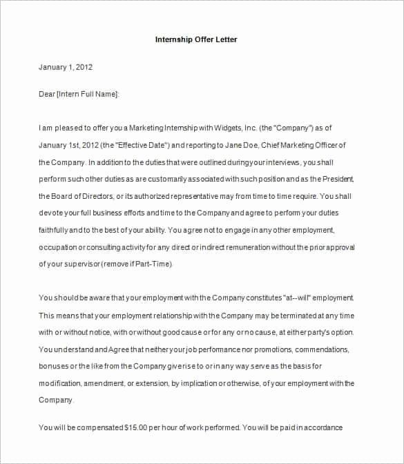 Sample Of Offer Letters Lovely 75 Fer Letter Templates Pdf Doc
