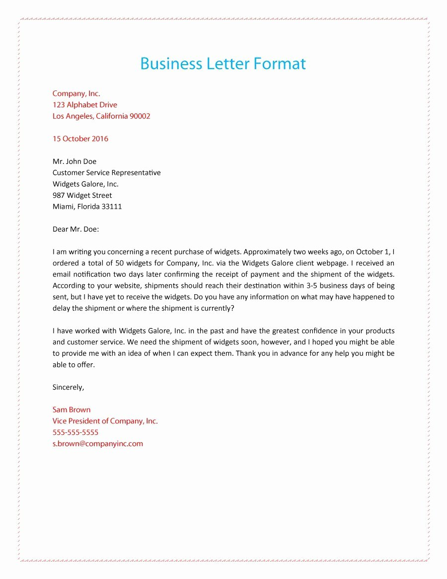 Sample Of Official Letter Best Of 35 formal Business Letter format Templates & Examples