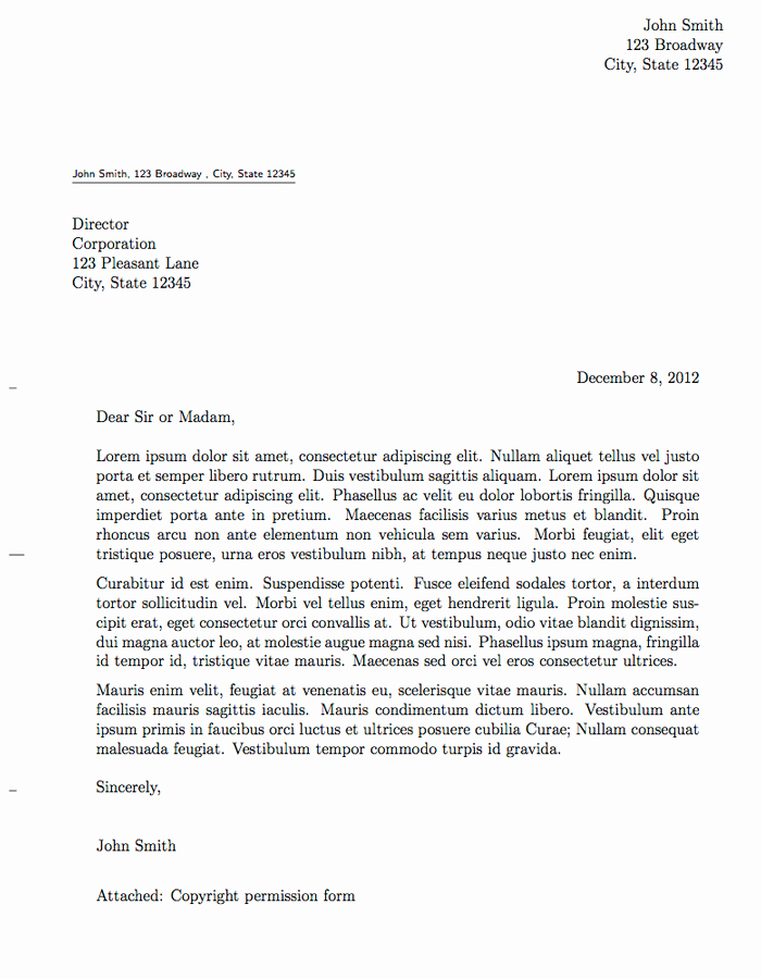 Sample Of Official Letter Inspirational Latex Templates formal Letters