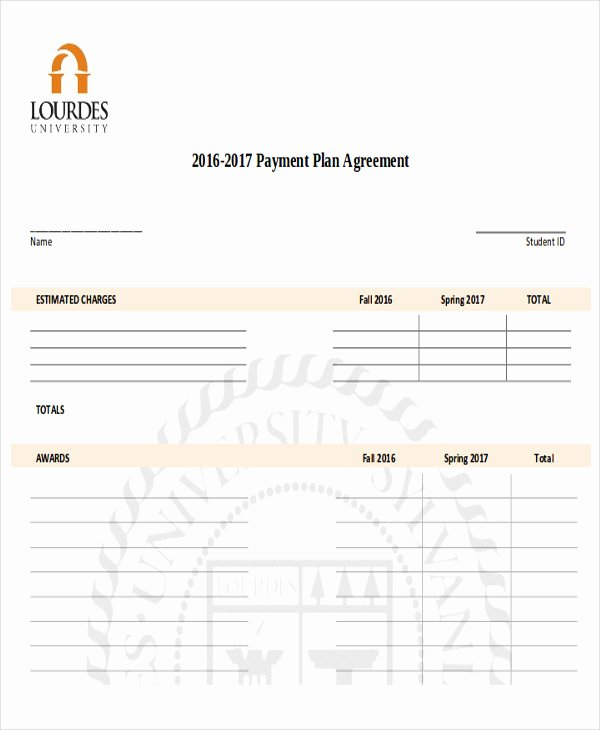 Sample Of Payment Plan Agreement Beautiful Sample Payment Plan Agreement 10 Examples In Word Pdf