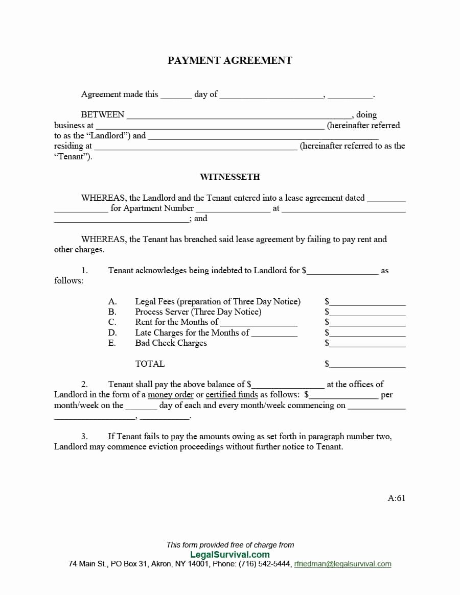 Sample Of Payment Plan Agreement Fresh Payment Agreement 40 Templates & Contracts Template Lab