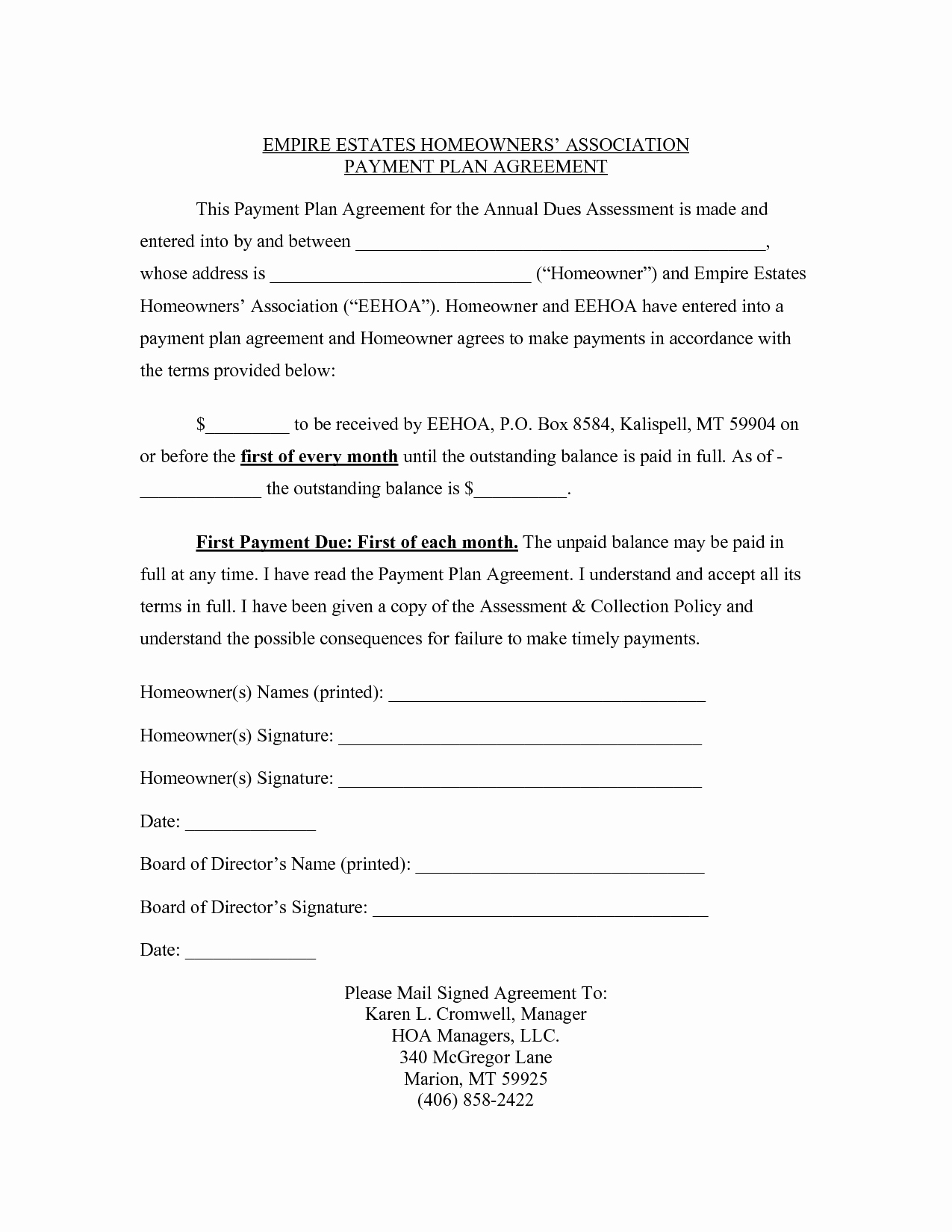Sample Of Payment Plan Agreement Inspirational Agreement Templates