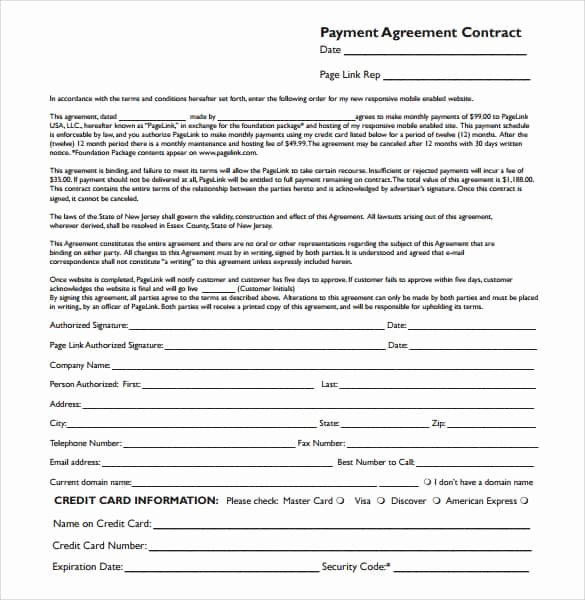 Sample Of Payment Plan Agreement New Payment Plan Agreement Templates Word Excel Samples