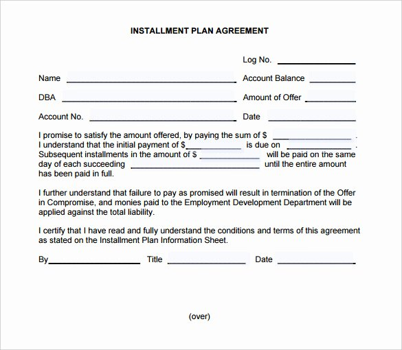 Sample Of Payment Plan Agreement Unique Payment Plan Agreement Template – 21 Free Word Pdf