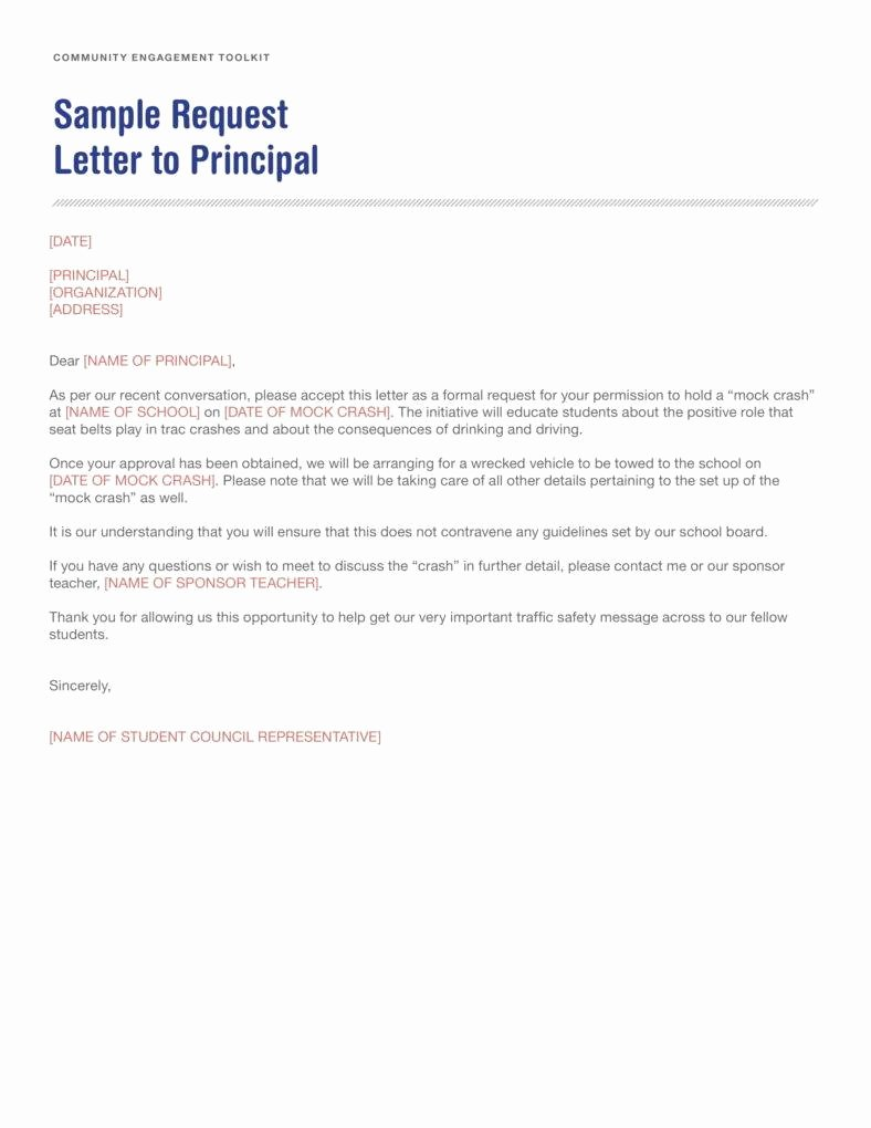 Sample Of Petition Letter Beautiful 10 Request Letter to A Principal Templates Pdf