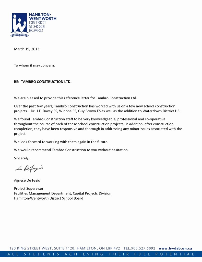 Sample Of Professional Reference Letter Best Of Reference Letters