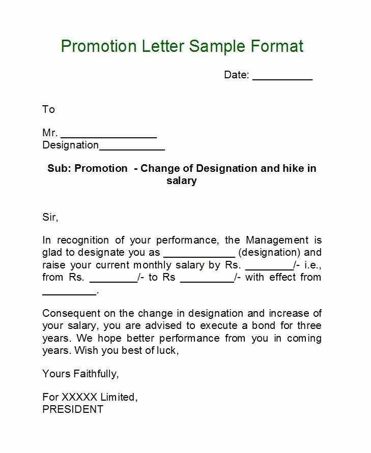 Sample Of Promotion Letters Elegant 50 Job Promotion Letters Free Templates Template Lab
