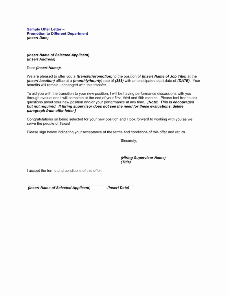 Sample Of Promotion Letters Inspirational 9 Employee Promotion Letters Free Word Pdf Excel