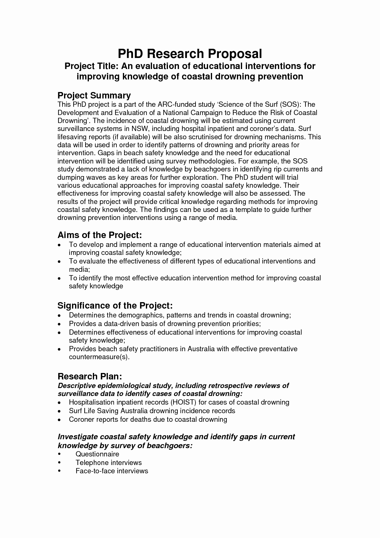 Sample Of Research Proposal Lovely Phd Research Proposal Writing