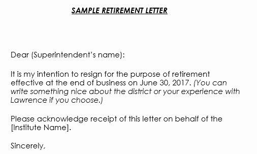 Sample Of Retirement Letter Awesome Retirement Letter Samples 9 formats & Retirement Letter