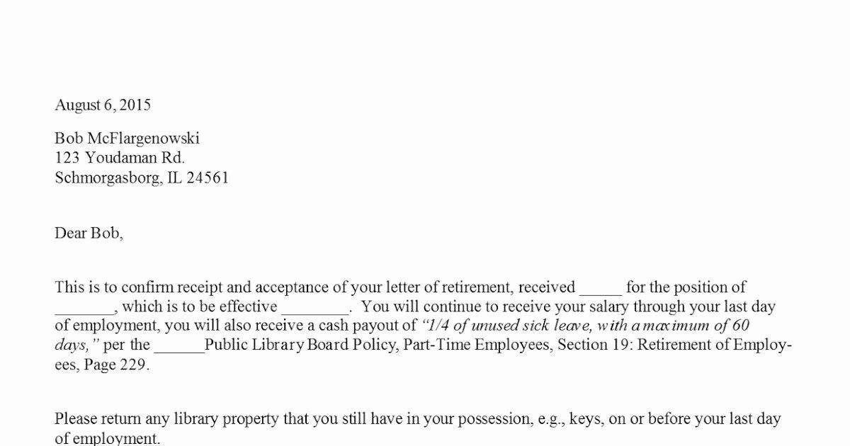 Sample Of Retirement Letter Luxury Sample Retirement Acceptance Letter