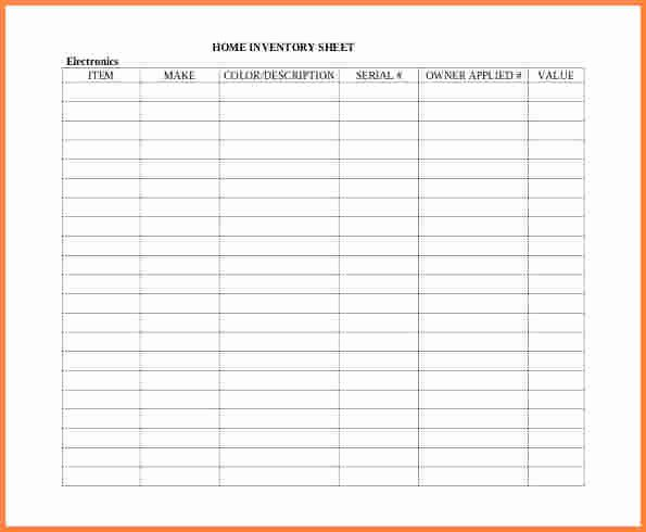 Sample Of Spread Sheet Unique 10 Inventory Spreadsheet Examples
