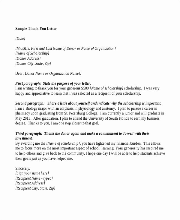 Sample Of Thankyou Letters Luxury Sample Letters 31 Free Documents In Pdf Doc