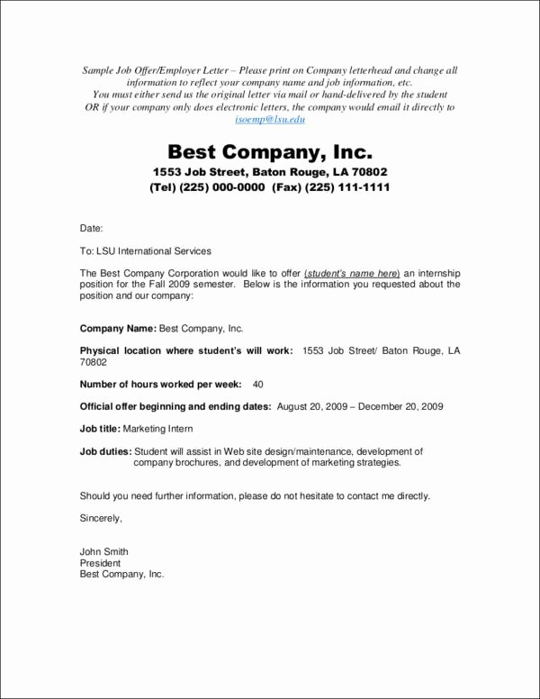 Sample Offer Letters for Employment Elegant Job Fer Acceptance Letters—tips Examples and Guide