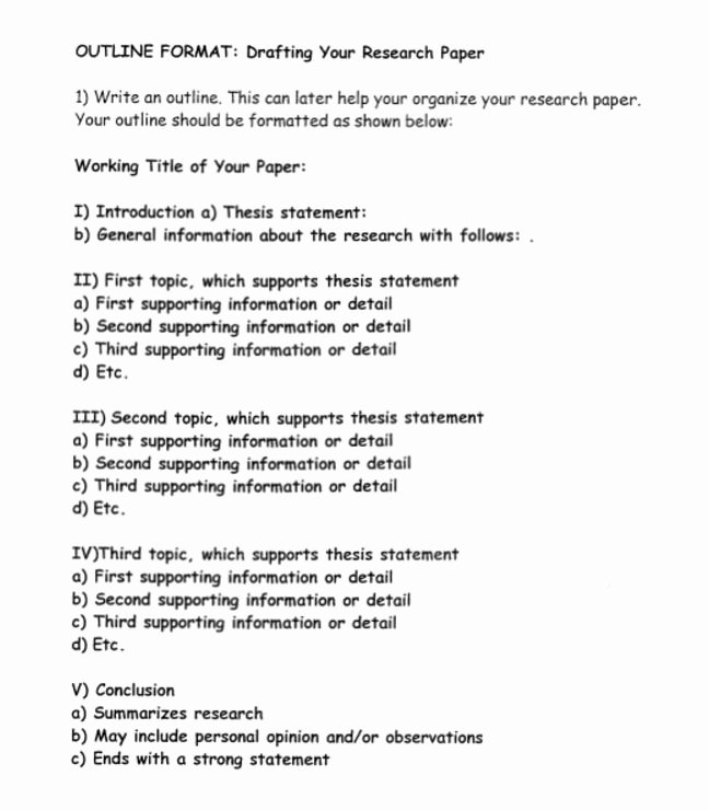 Sample Outlines for Research Papers Lovely How to Write A Research Paper Outline and Examples at