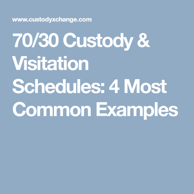 Sample Parallel Parenting Plan Fresh 70 30 Custody & Visitation Schedules 4 Most Mon