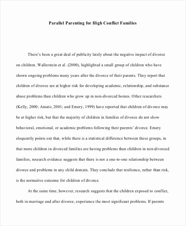 Sample Parallel Parenting Plan Lovely 9 Parenting Plan Templates Free Sample Example format