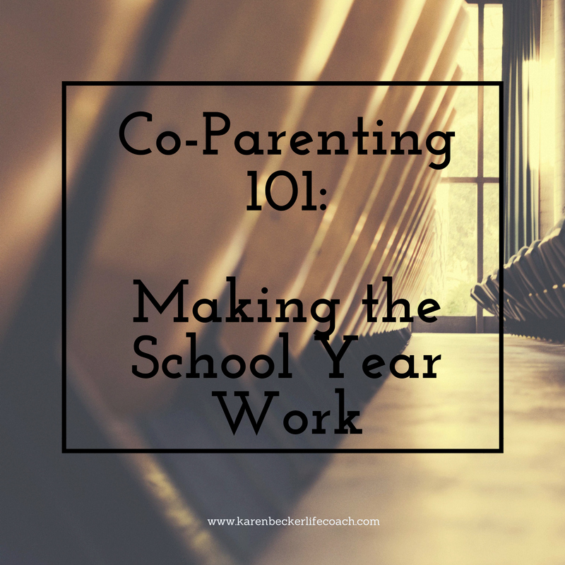 Sample Parallel Parenting Plan Unique Co Parenting 101 Making the School Year Work
