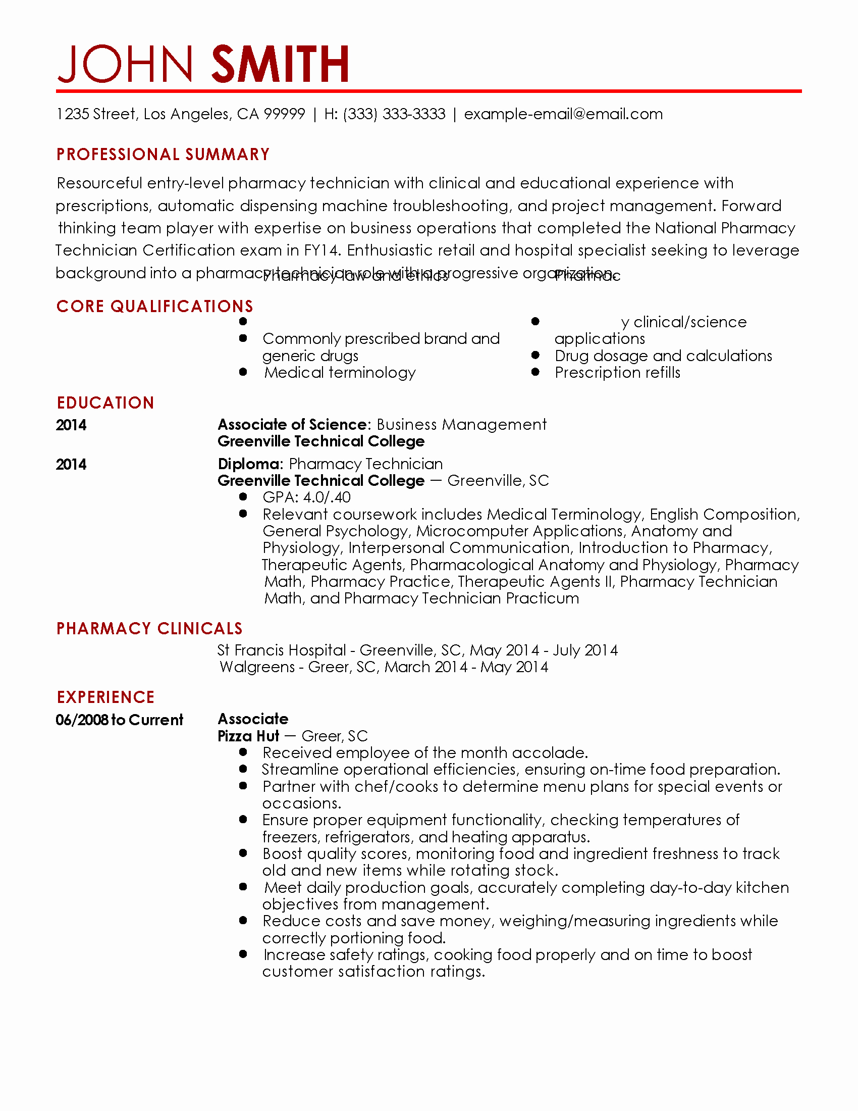 Sample Pharmacy Tech Resume Lovely Pharmacy Technician Resume Samples