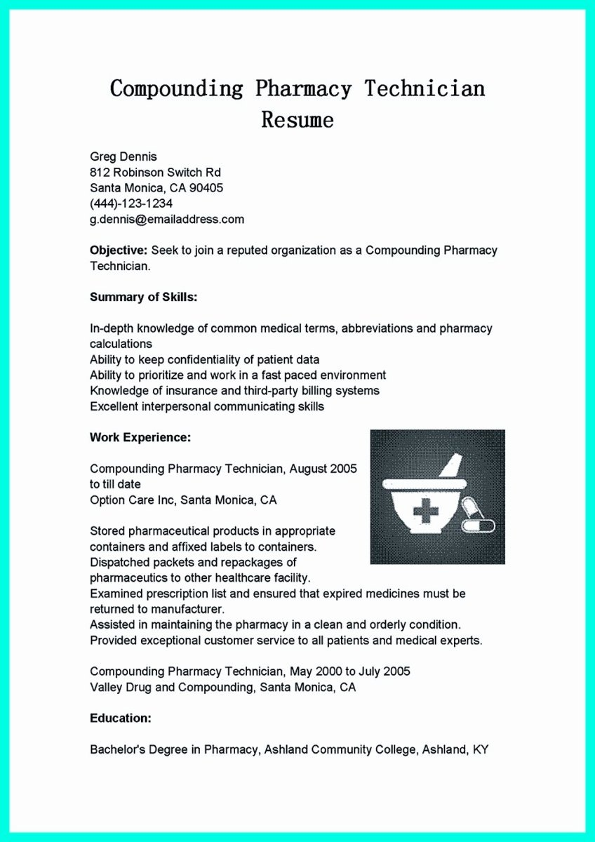 Sample Pharmacy Tech Resume Unique What Objectives to Mention In Certified Pharmacy