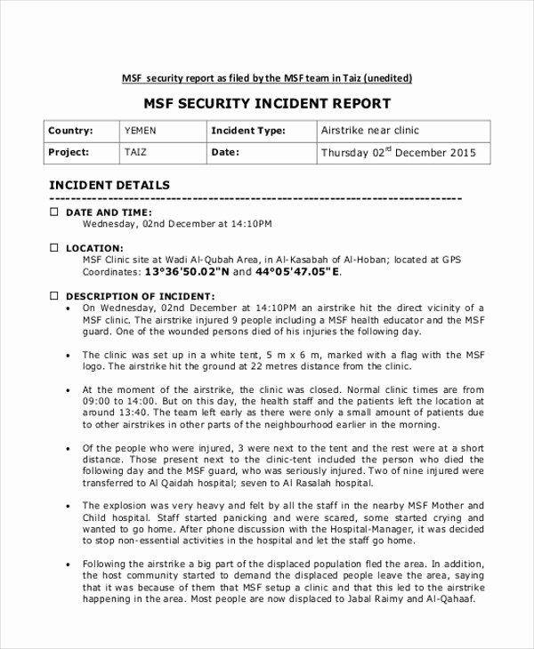 incident report sample in nursing 7