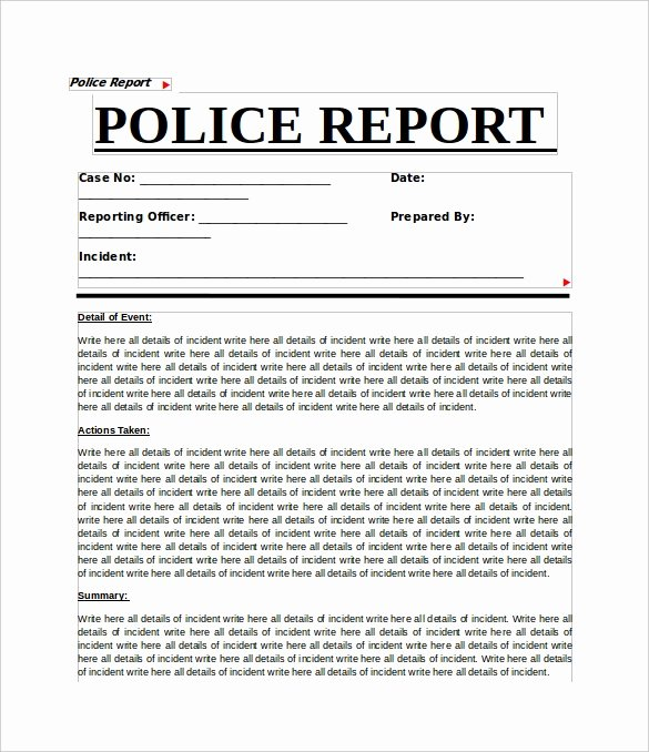 Sample Police Report Writing Luxury 11 Sample Crime Reports Pdf Word