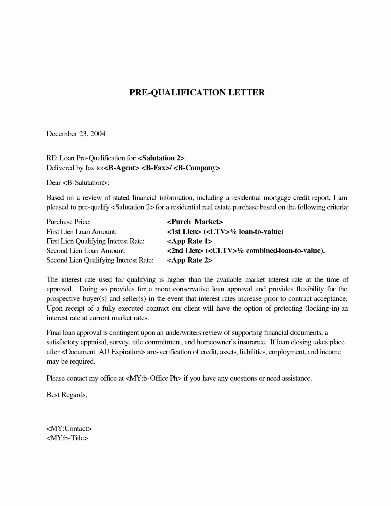 Sample Pre Approval Letter Beautiful Pre Qualification Letter Sample Icebergcoworking