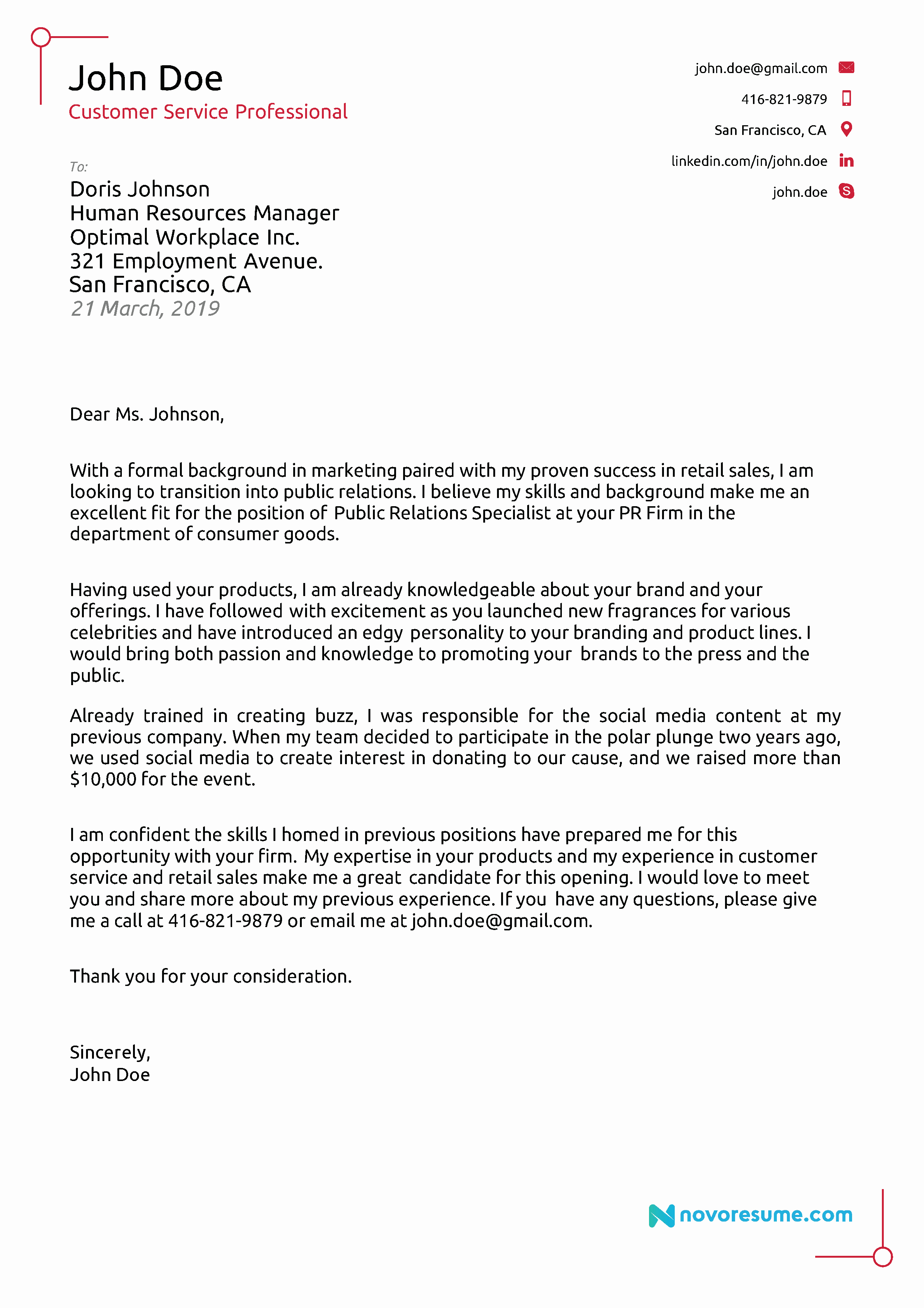 Sample Professional Cover Letter Beautiful Cover Letter Examples for 2019 [ Writing Tips]