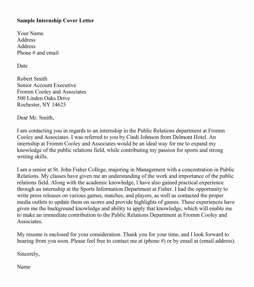 Sample Professional Cover Letter Elegant 5 Free Cover Letter Templates for Resume and 10 Best