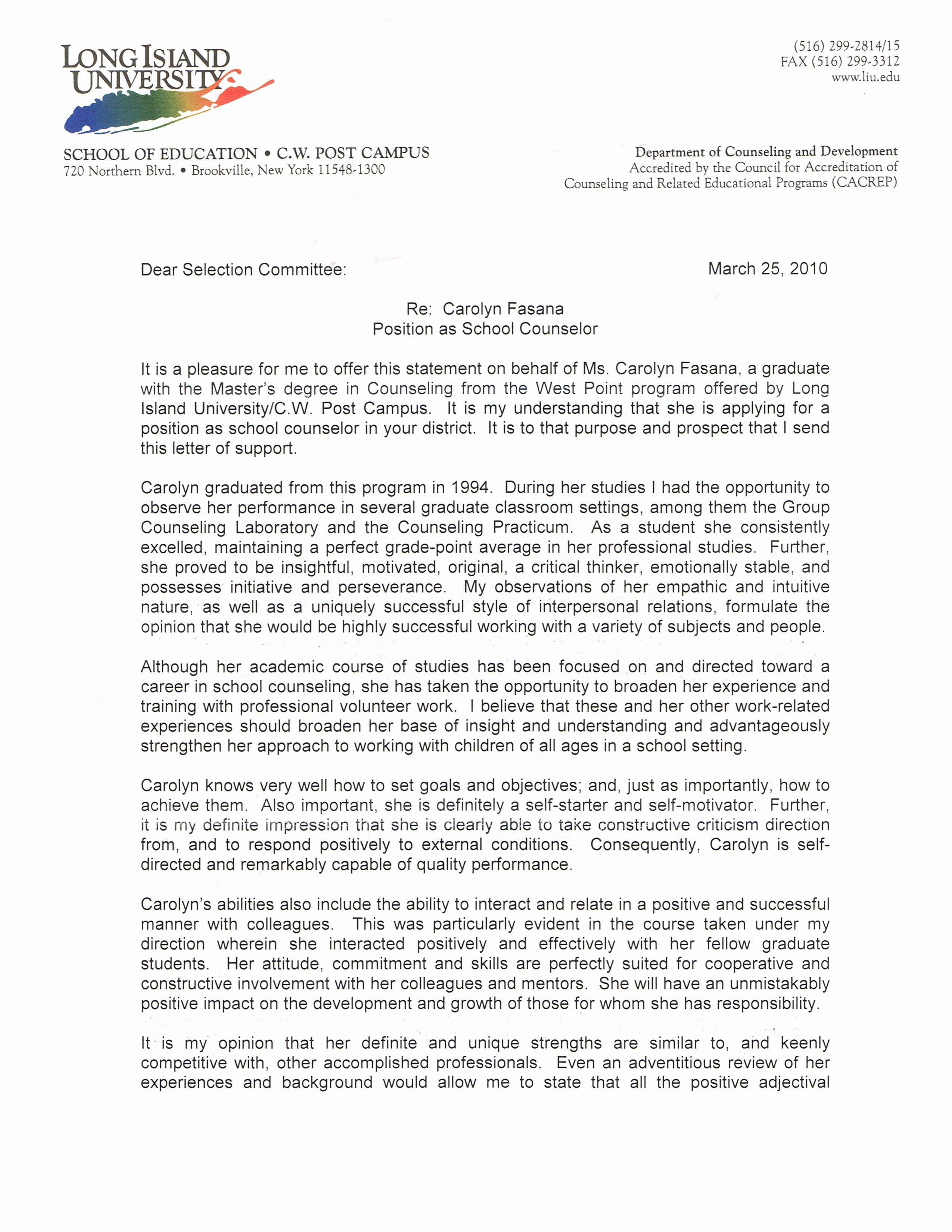 Sample Professional Letter Of Recommendation Elegant Letters Of Re Mendation