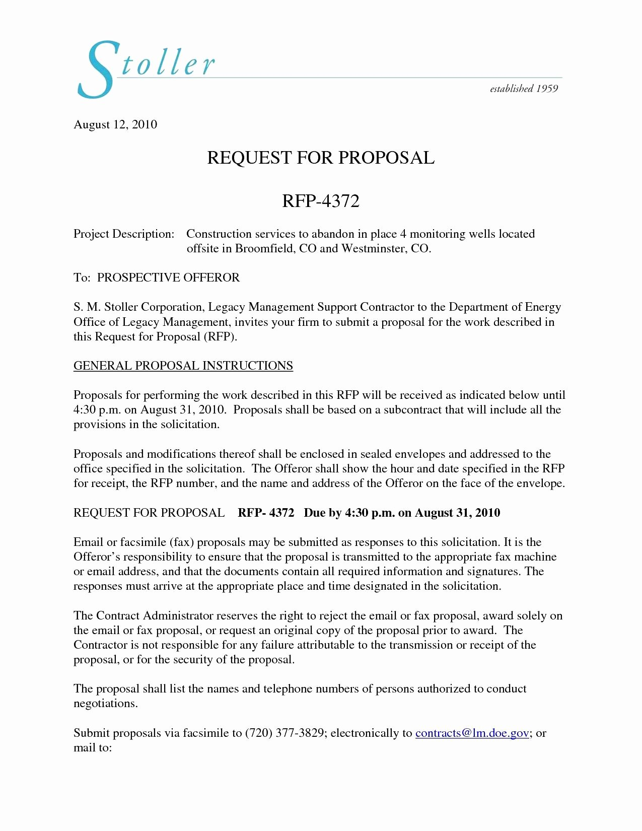 Sample Proposal Cover Letter Inspirational 14 15 Cover Letter for Rfp Response