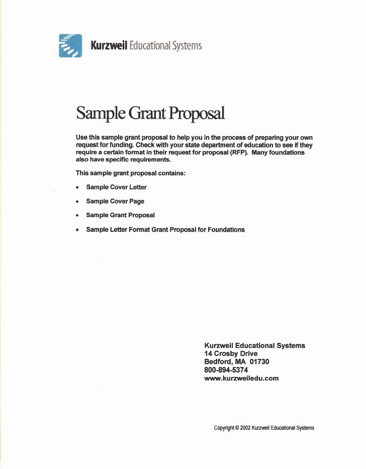 Sample Proposal Cover Letter New Sample Grant Proposal
