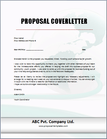 Sample Proposal Cover Letter Unique Proposal Cover Letter Templates Free for Ms Word