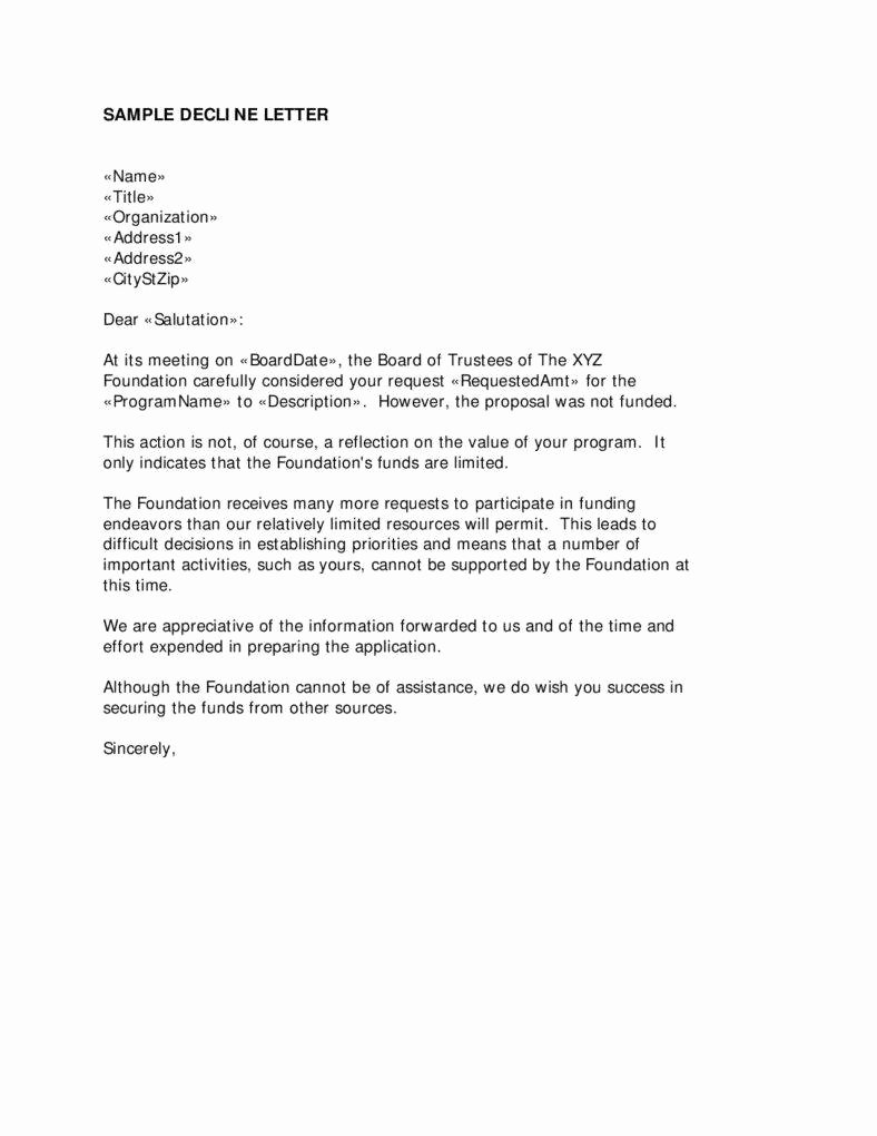 Sample Proposal Rejection Letter Awesome 15 Business Proposal Pdf Word