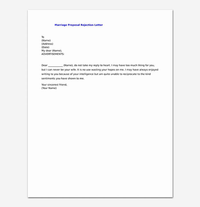 Sample Proposal Rejection Letter Best Of Proposal Rejection Letter format & Sample Letters