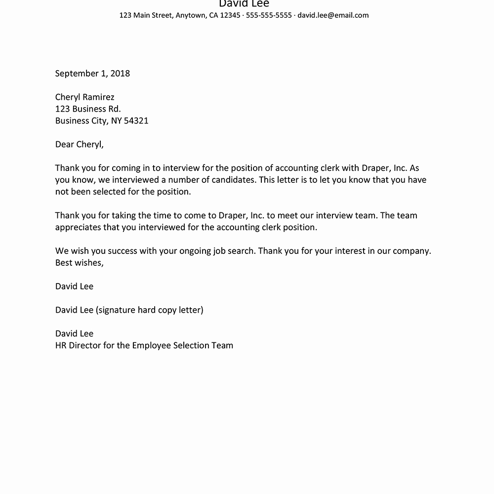 Sample Proposal Rejection Letter Inspirational Job Rejection Letter Samples and Policies