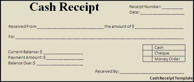 Sample Receipt for Cash Payment Awesome Cash Payment Receipt Template Free