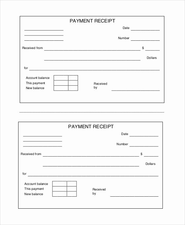 Sample Receipt for Cash Payment Awesome Free Printable Receipt 10 Examples In Word Pdf