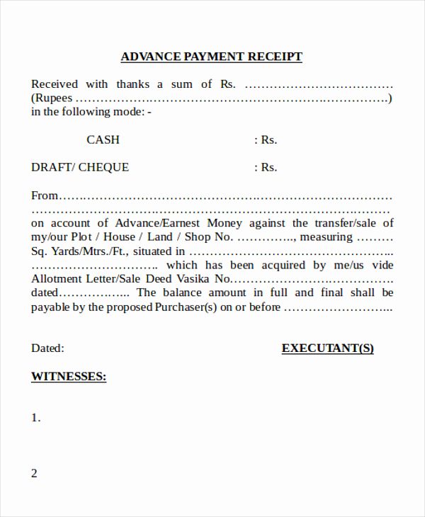 Sample Receipt for Cash Payment Fresh Cash Payment Receipt 7 Examples In Word Pdf