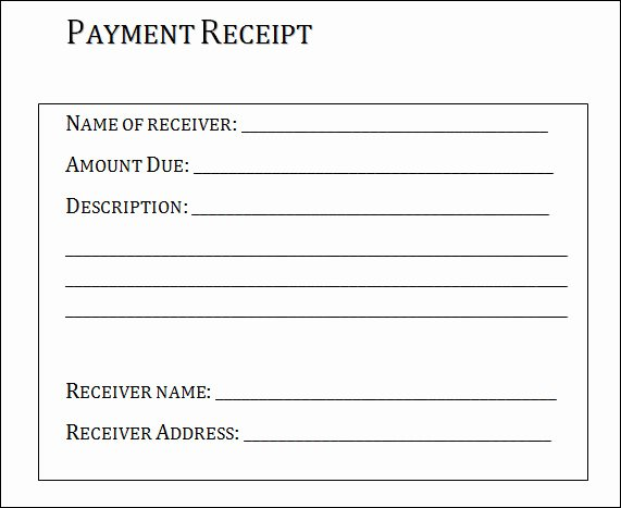 Sample Receipt for Cash Payment Inspirational Free 26 Payment Receipt Samples Pdf Word Excel Pages