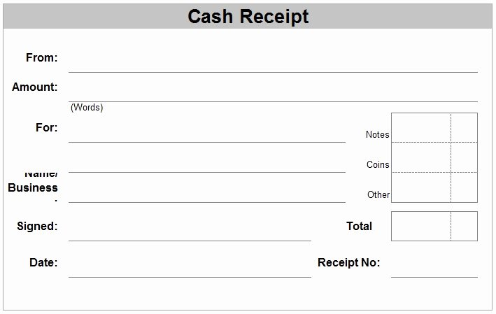 Sample Receipt for Cash Payment Luxury Hand Written Receipt Template
