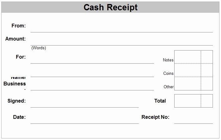 Sample Receipt for Cash Payment Luxury Hand Written Receipt Template
