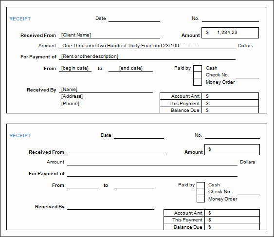 Sample Receipt for Cash Payment New Free 30 Cash Receipt Templates In Google Docs