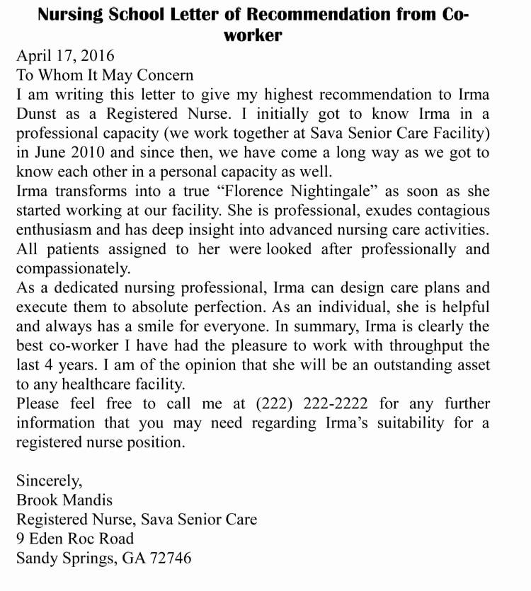 Sample Recommendation Letter for Coworker Elegant Letter Of Re Mendation for Co Worker 18 Sample Letters